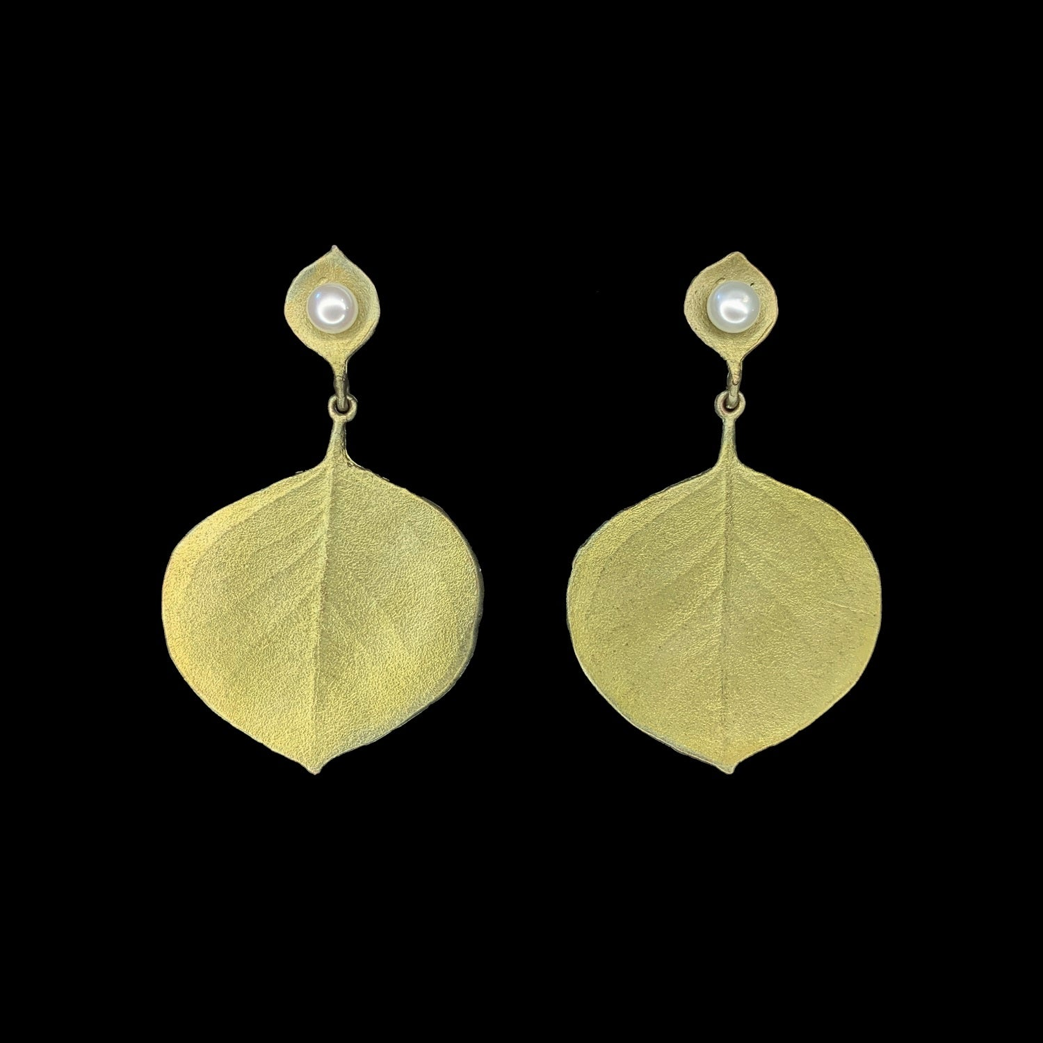 Round Leaf Eucalyptus Earrings - Post