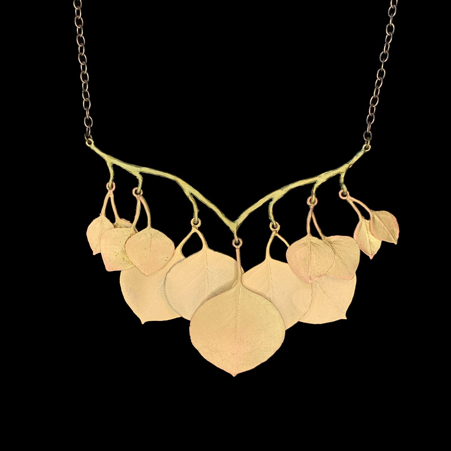 Round Leaf Eucalyptus Necklace - Branch