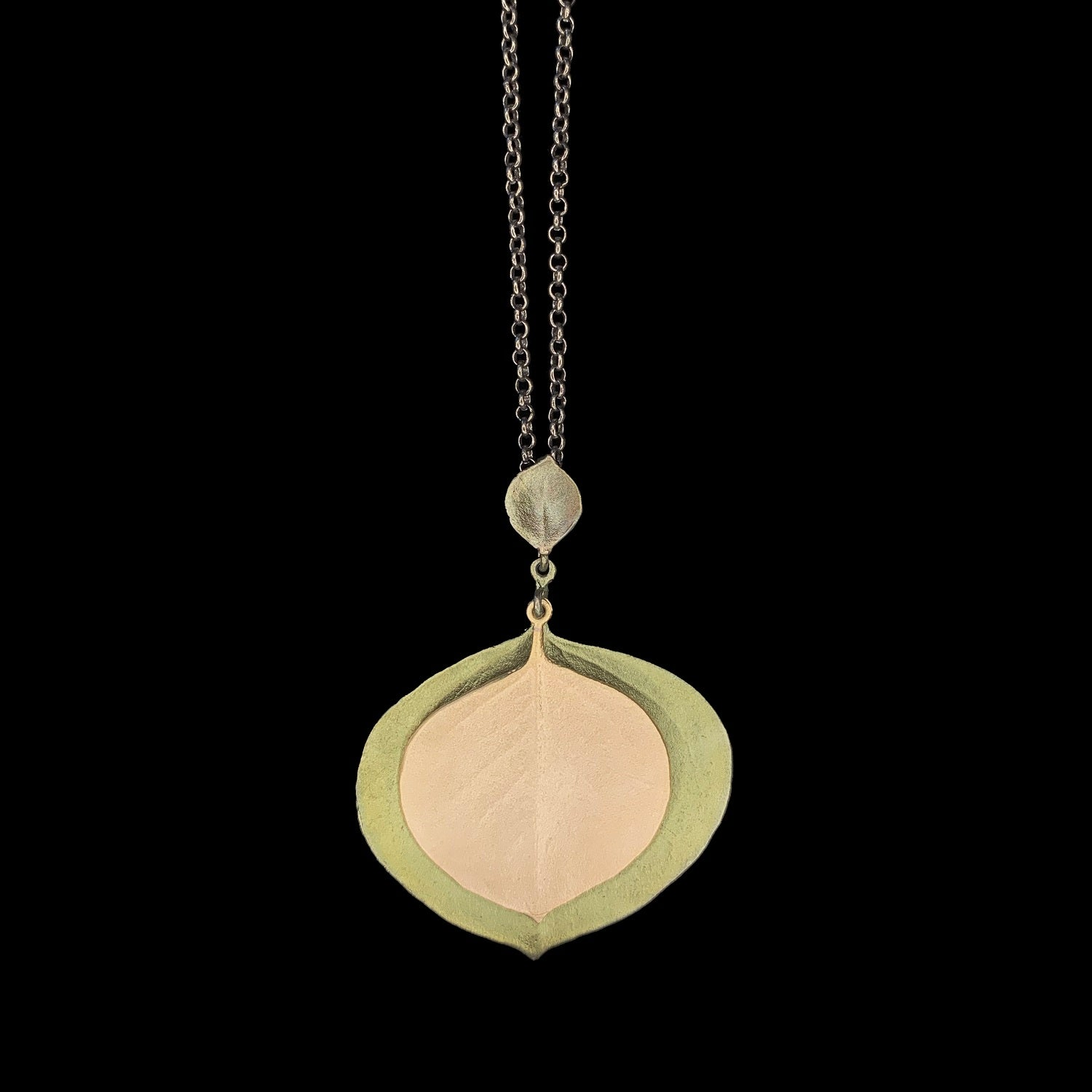 Round Leaf Eucalyptus Pendant - Large Double Leaves