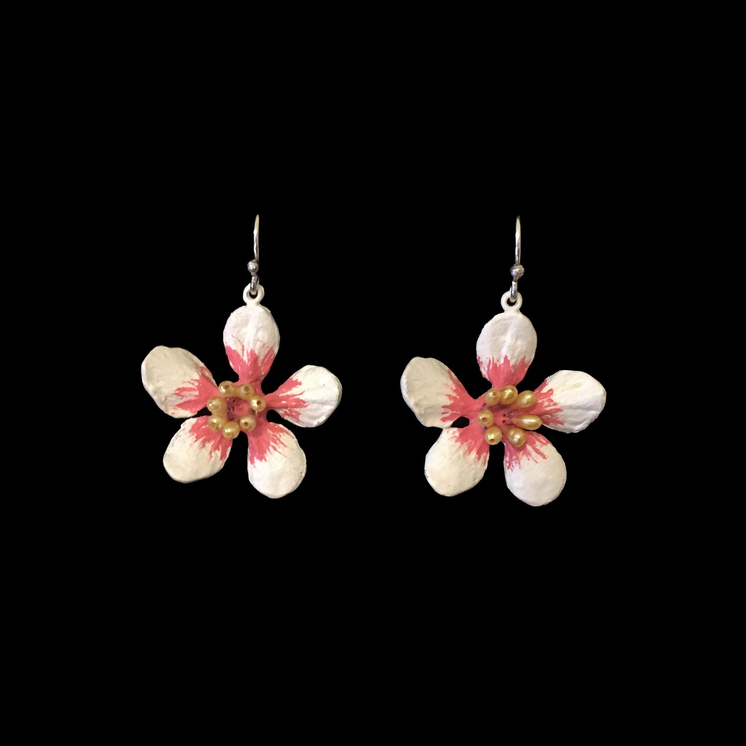 Almond Blossom Earrings - Flower Wire Drop