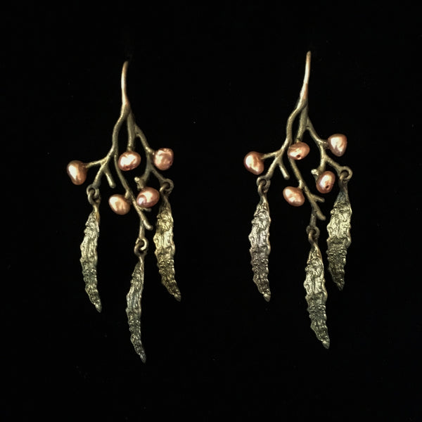 Seaweed Earrings - Wire