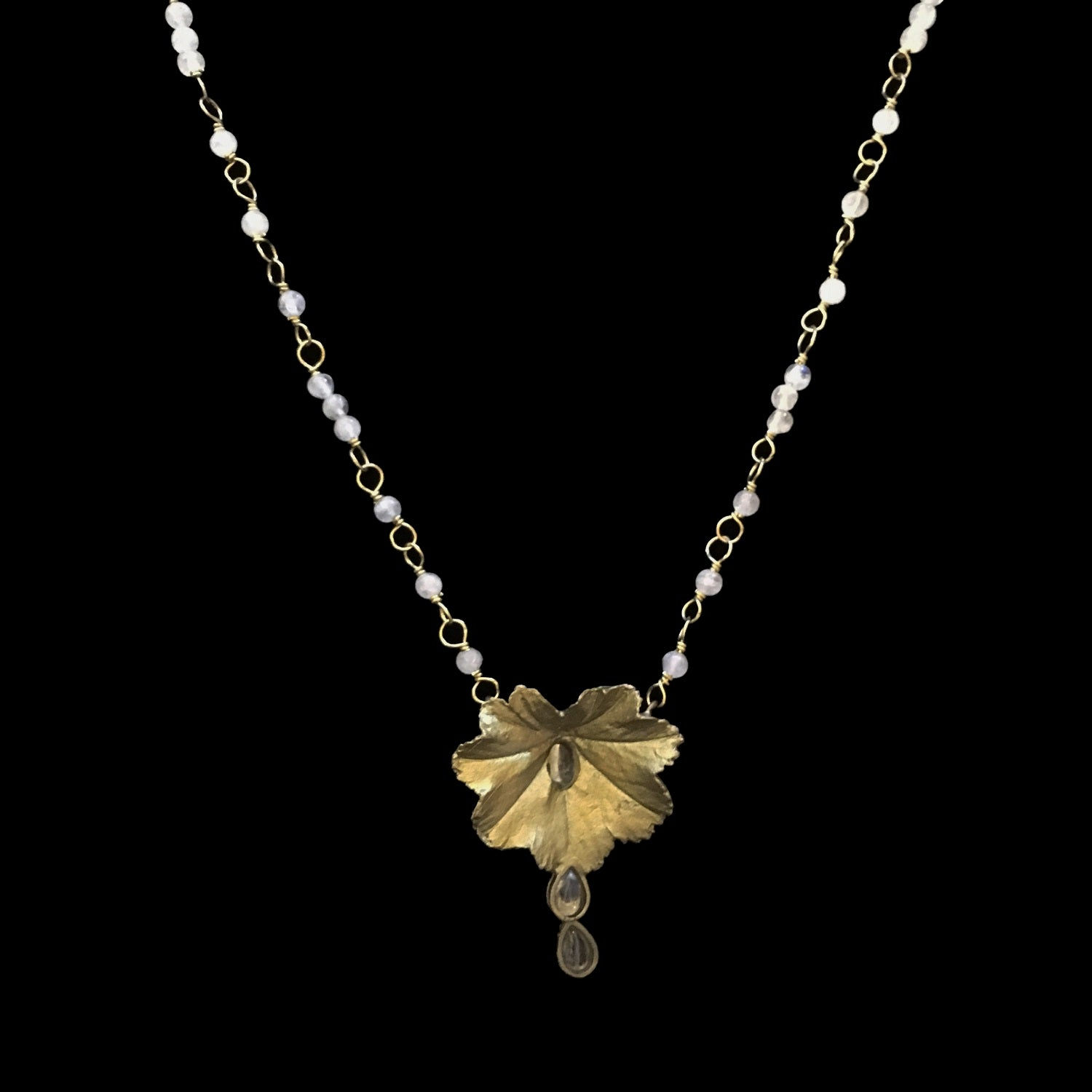 Lady's Mantle Pendant - Beads