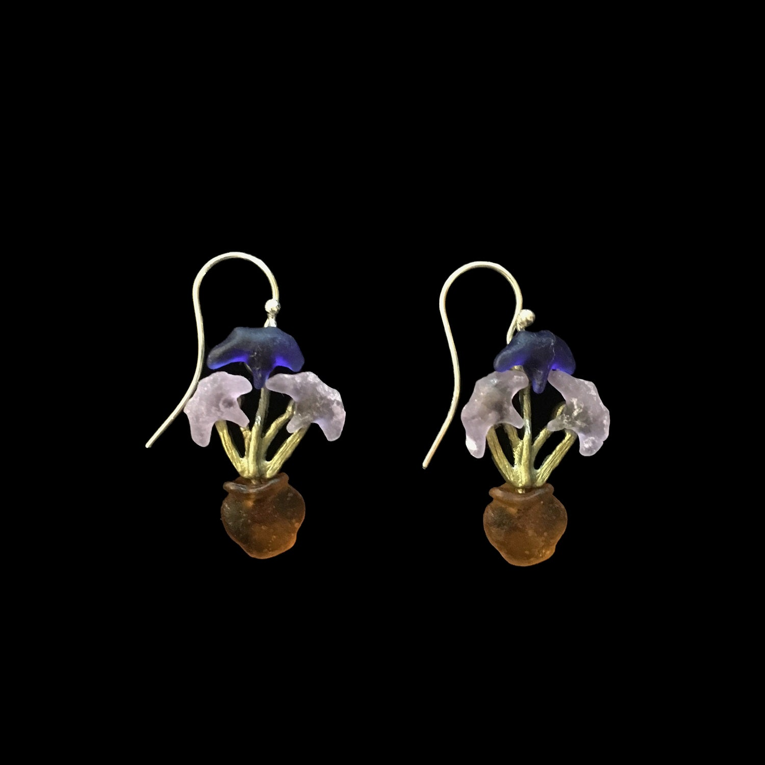 Van Gogh Irises Earrings - Wire