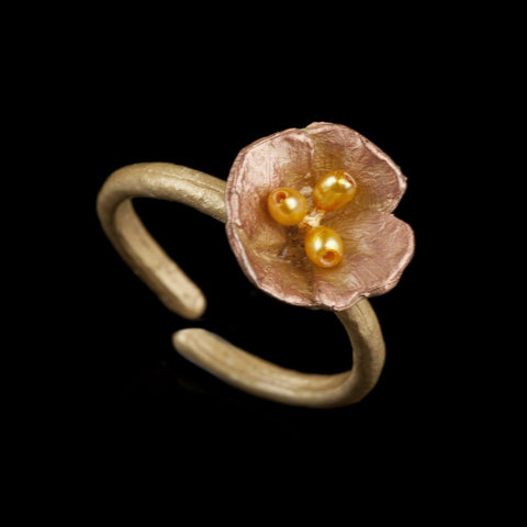 California Poppy Ring