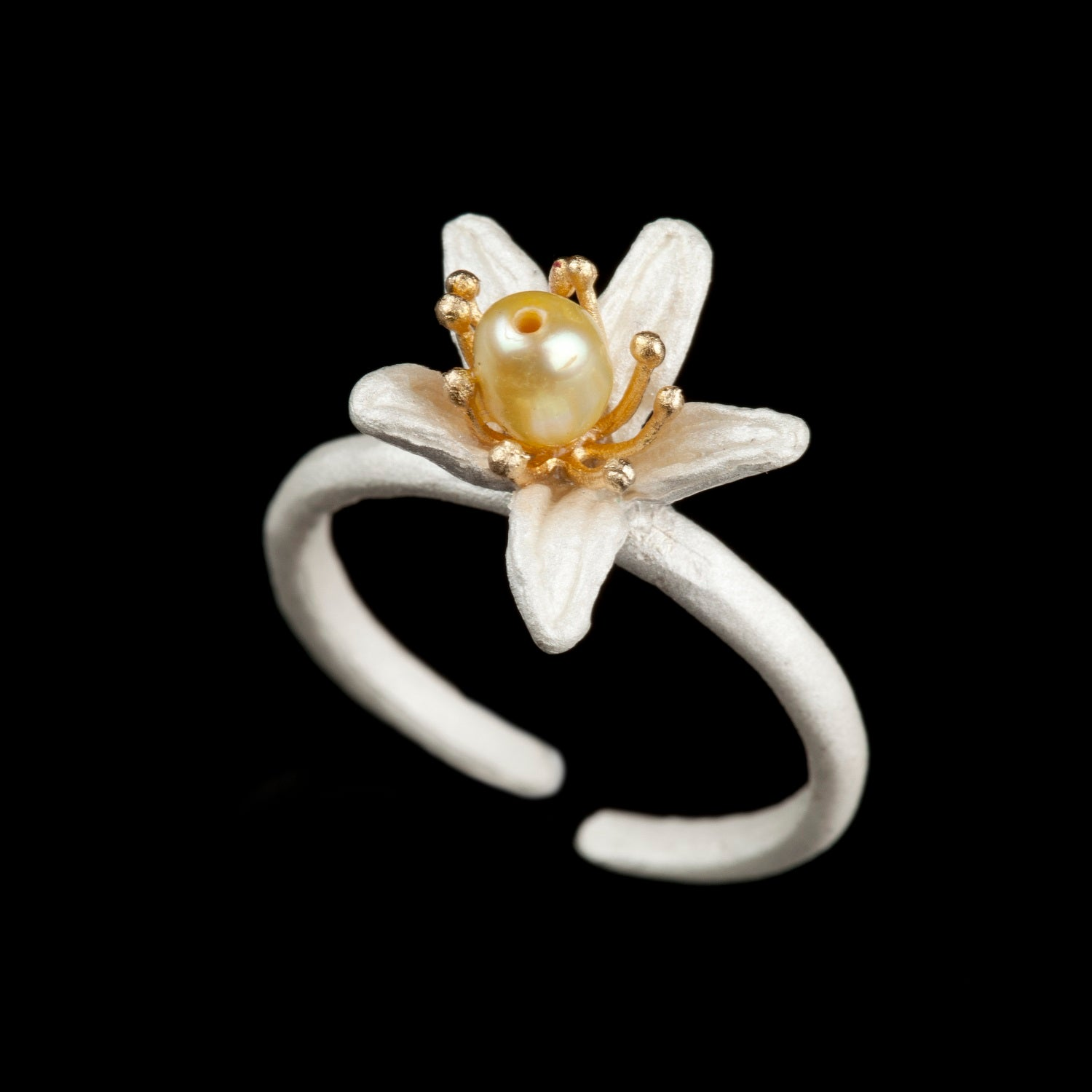Orange Blossom Ring - Single Flower