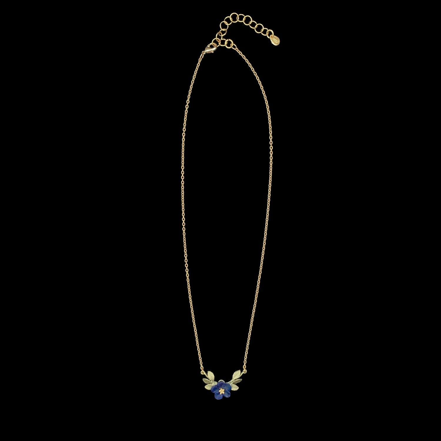 Blue-Eyed Mary Pendant - Single Flower