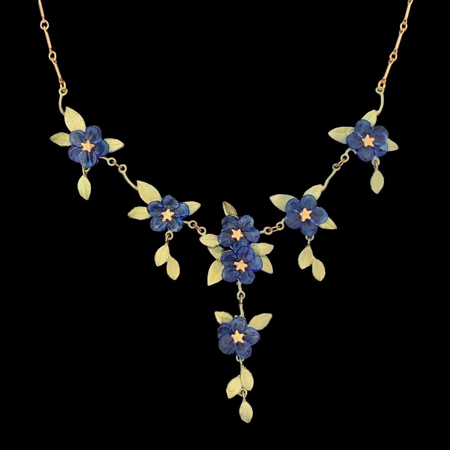 Blue-Eyed Mary Necklace