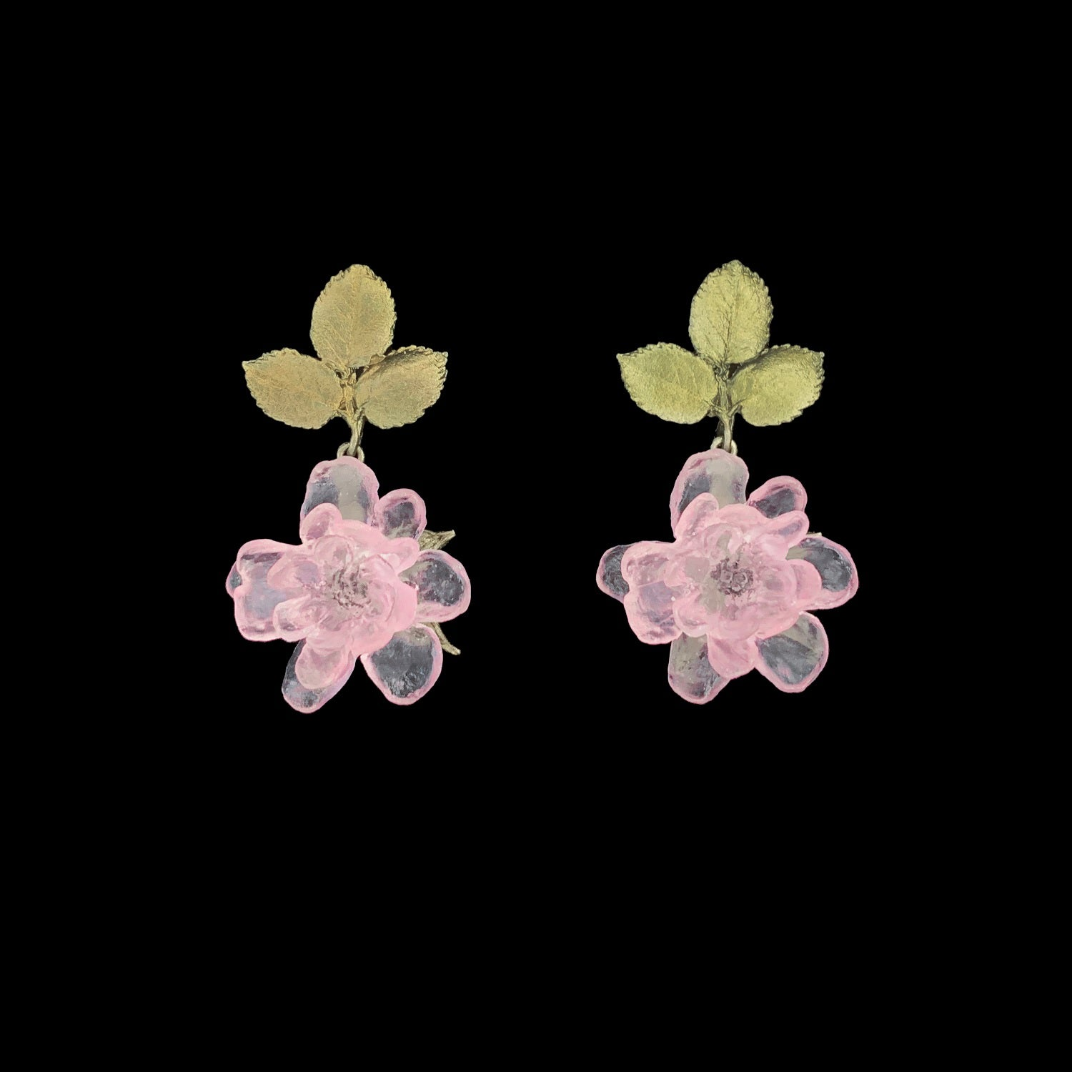 Blushing Rose Earrings - Post Drop