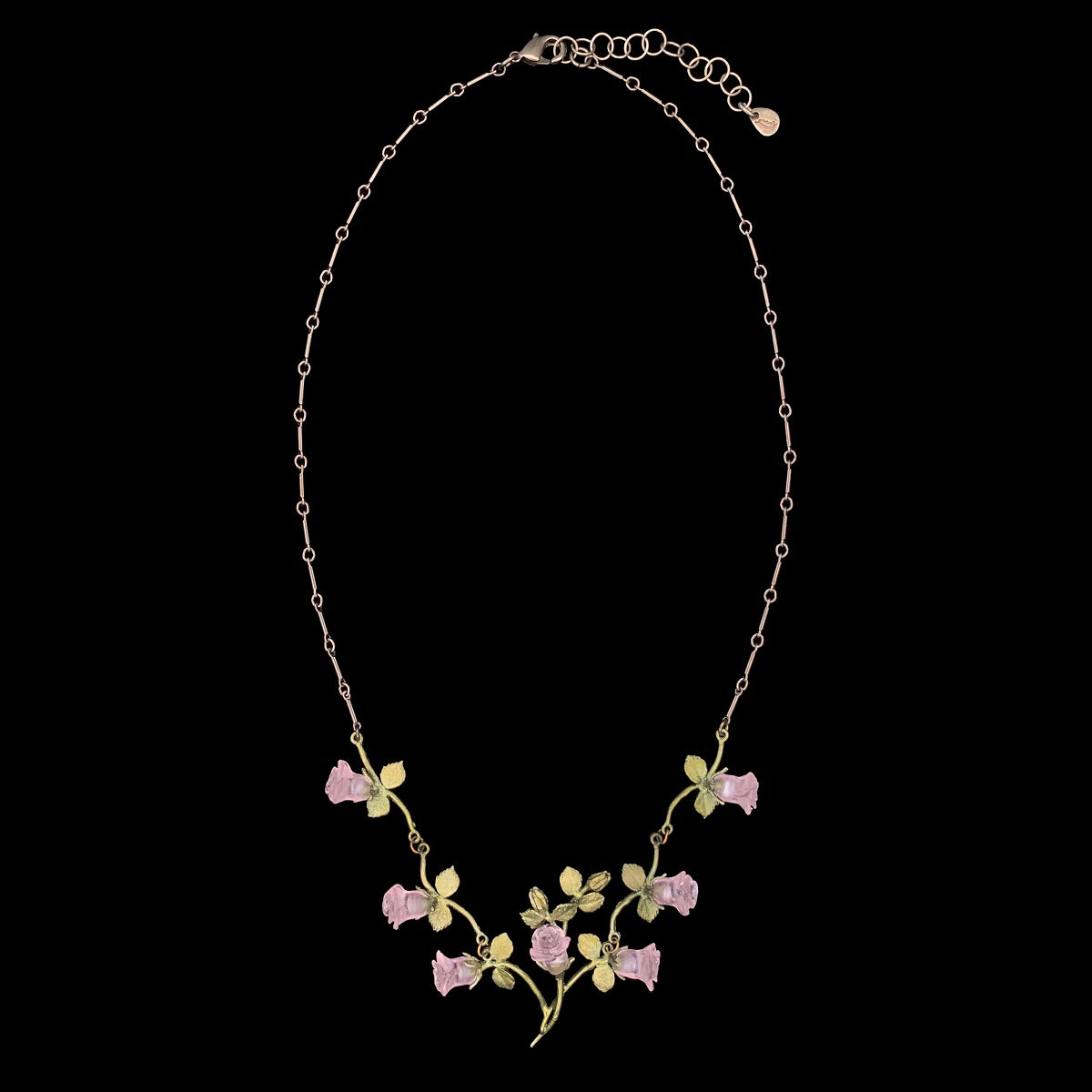 Blushing Rose Necklace - Vines