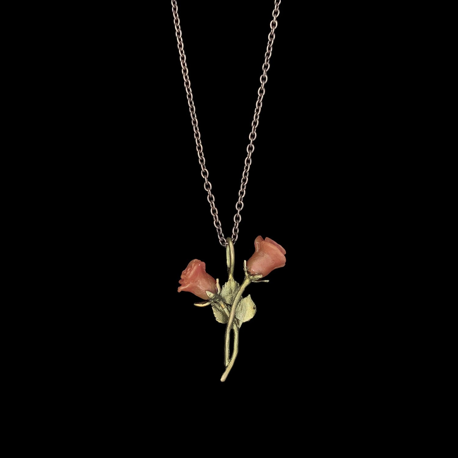 Red Rose Pendant - Dainty
