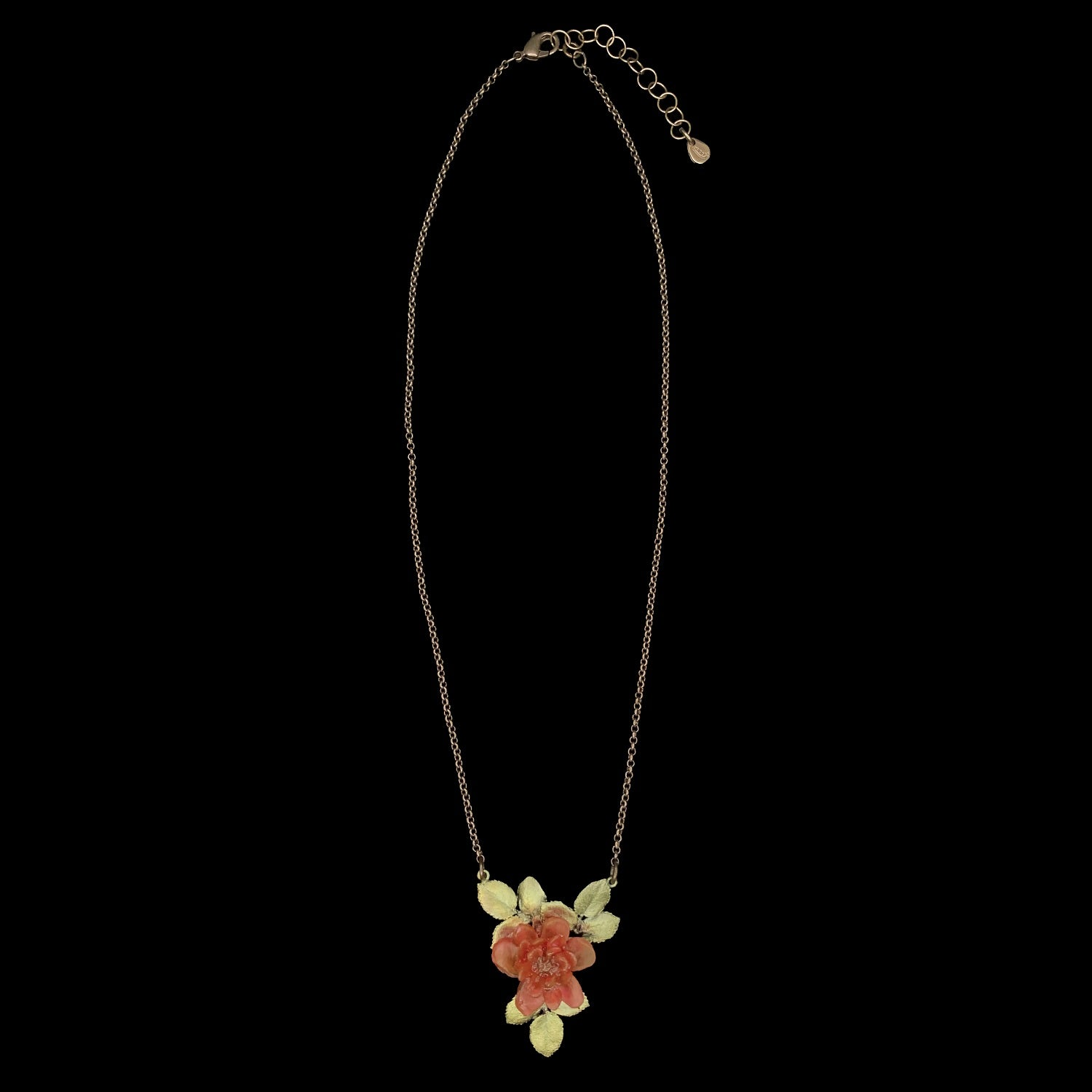 Red Rose Pendant - Single Flower