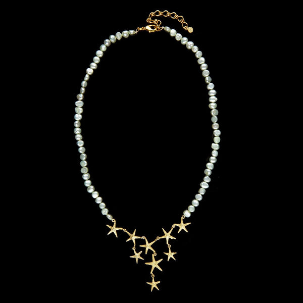 Petite Starfish Pearl Contour Necklace