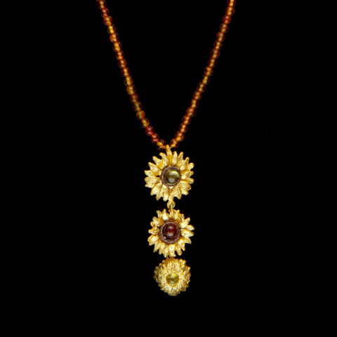 Van Gogh Sunflower Pendant - Drop