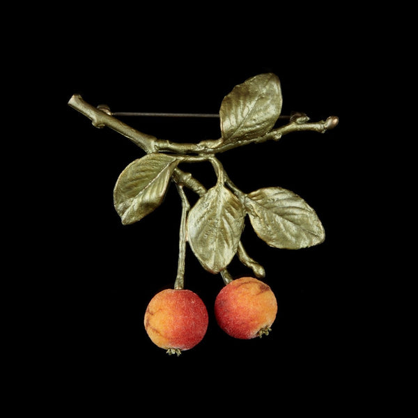 Crab Apple Brooch