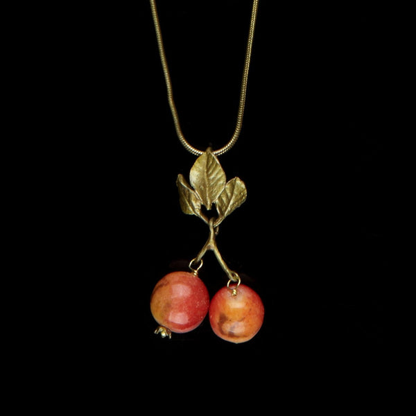 Crab Apple Pendant - Chain
