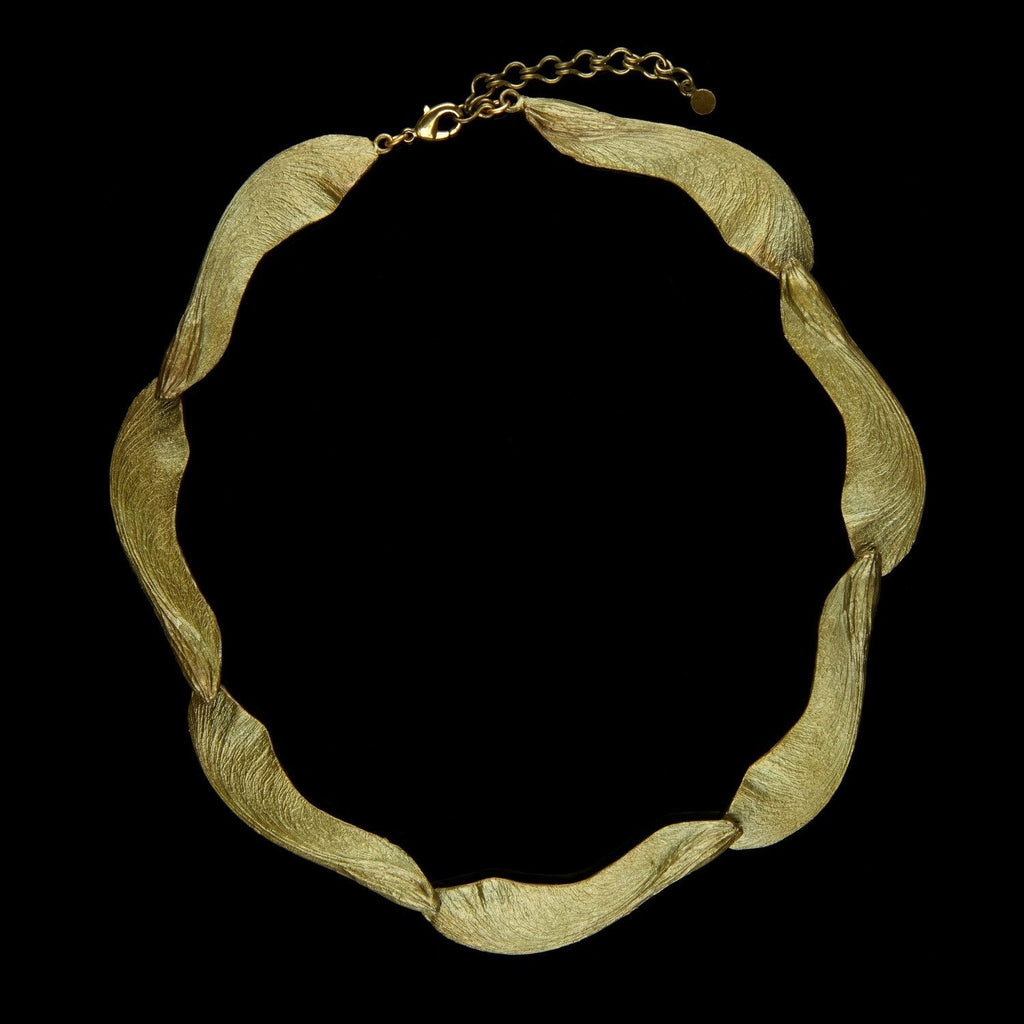 Samara Necklace - Large Contour Patina