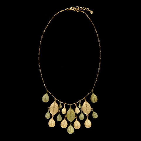 Bahamian Bay Necklace - Gold/Patina