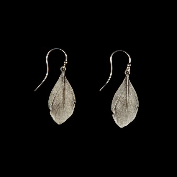 Feather Earring - Wire Silver