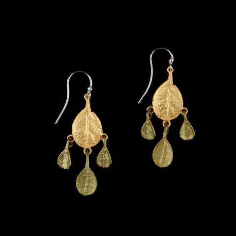 Bahamian Bay Earring - Dangle Wire Gold/Patina