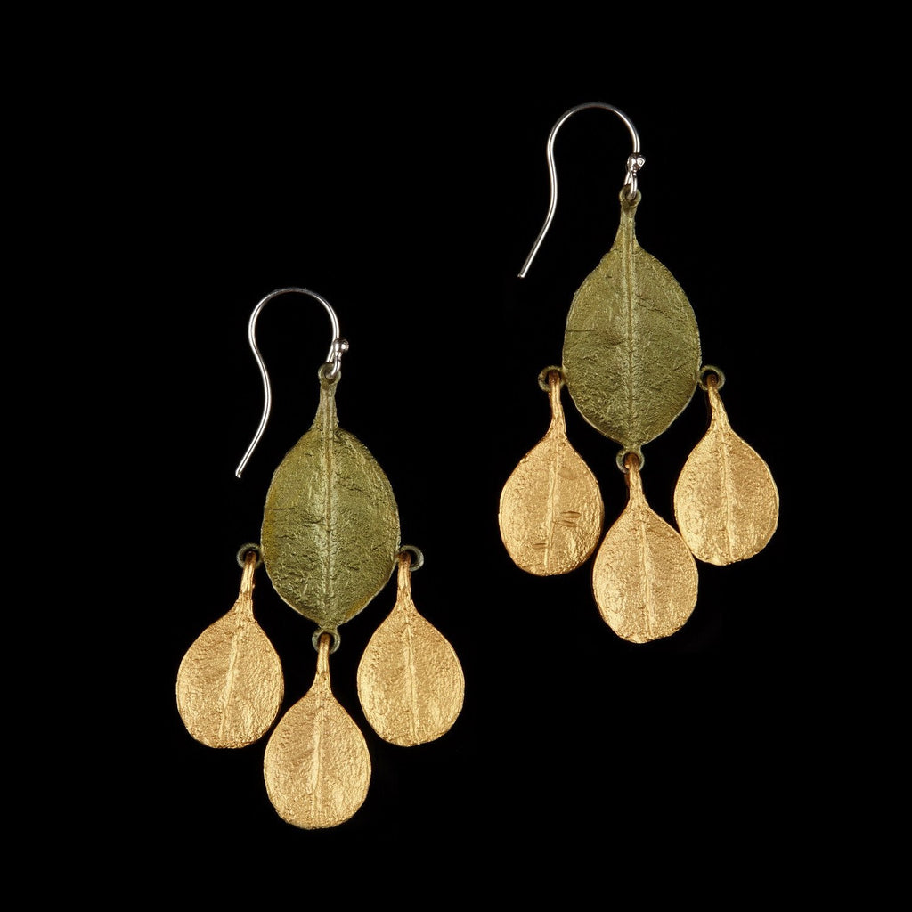 Bahamian Bay Earring - Large Dangle Wire Gold/Patina