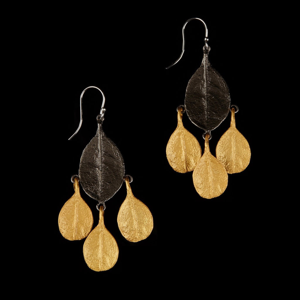 Bahamian Bay Earring - Large Dangle Wire Gold/Gunmetal