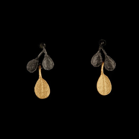 Bahamian Bay Earring - Post Gold/Gunmetal