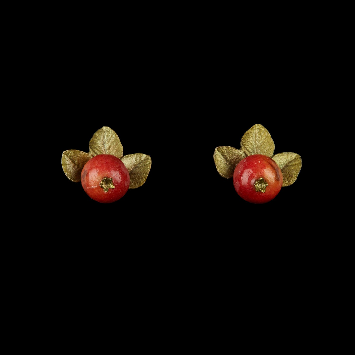 Crab Apple Earring - Button Post