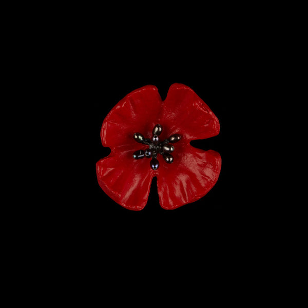 Red Poppy Pin