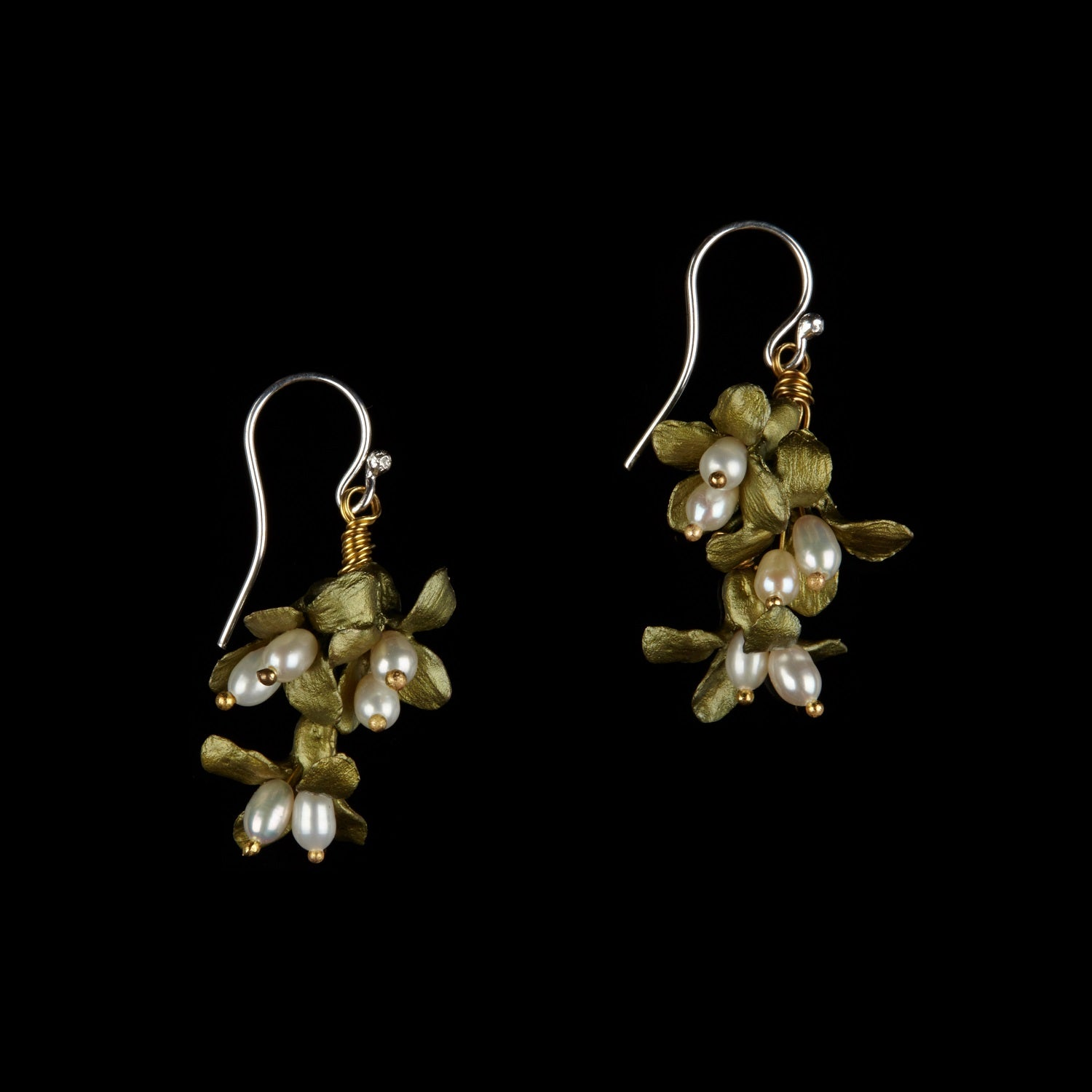 Wildflower Earrings - Three Drop Wire