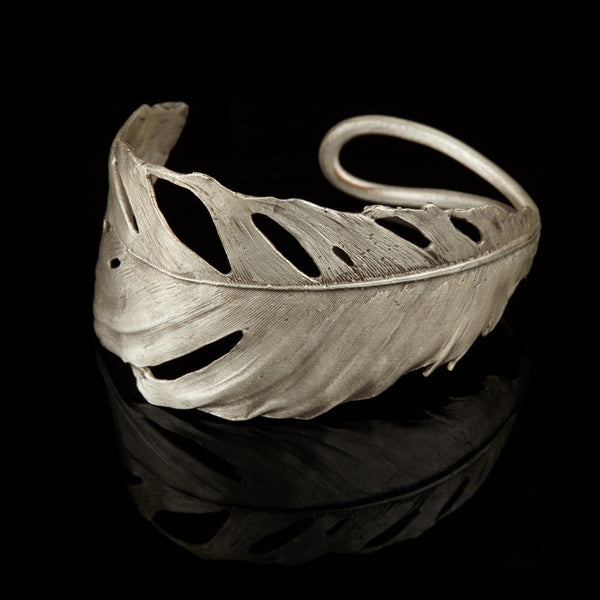 Feather Cuff Silver