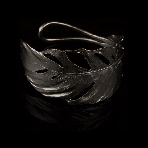 Feather Cuff Gunmetal