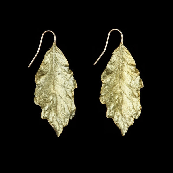 Swamp White Oak Leaf Earrings