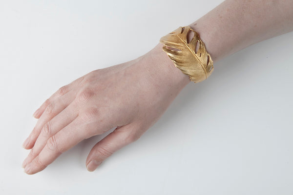Feather Cuff Gold