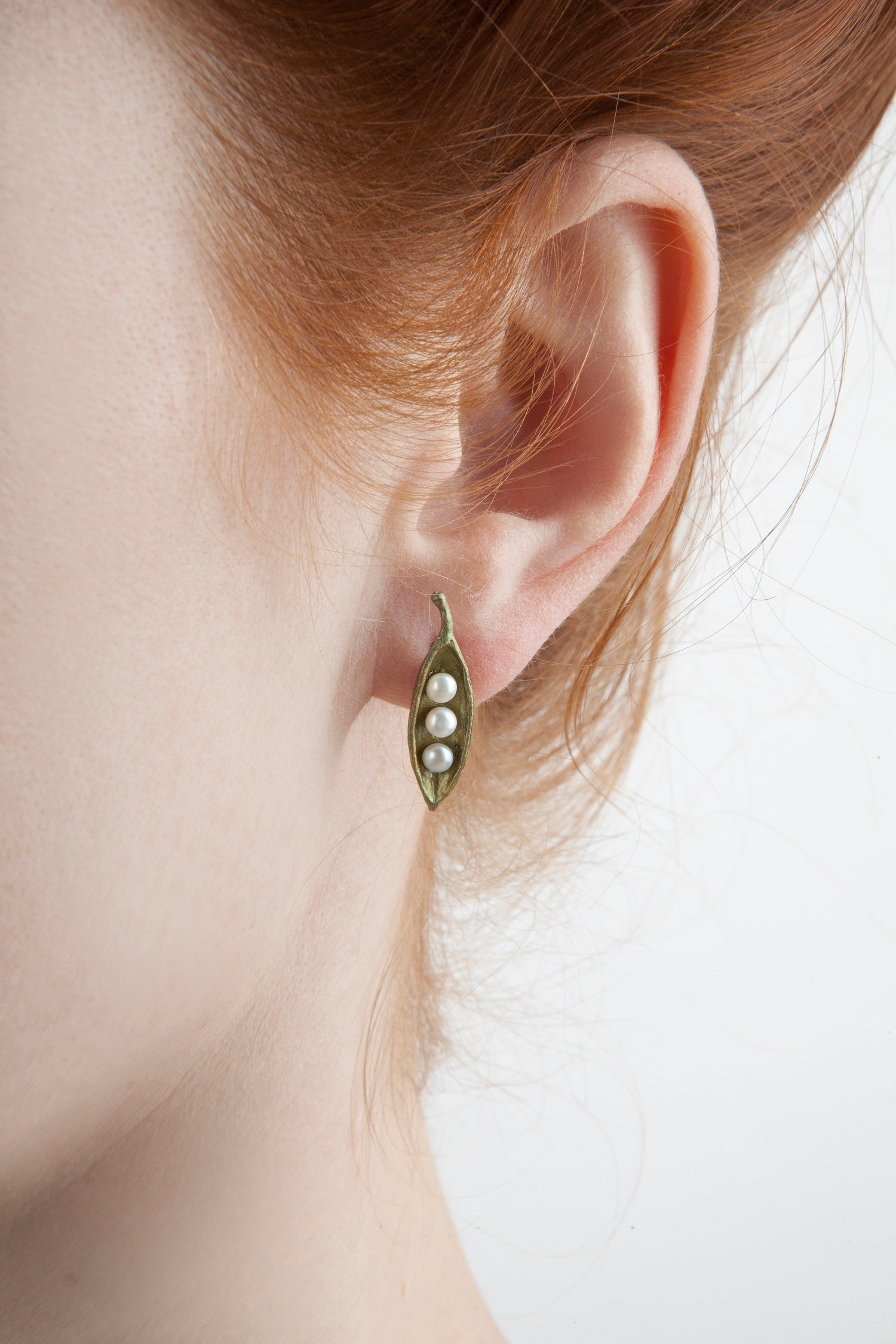 Pea Pod Earrings - Petite Post