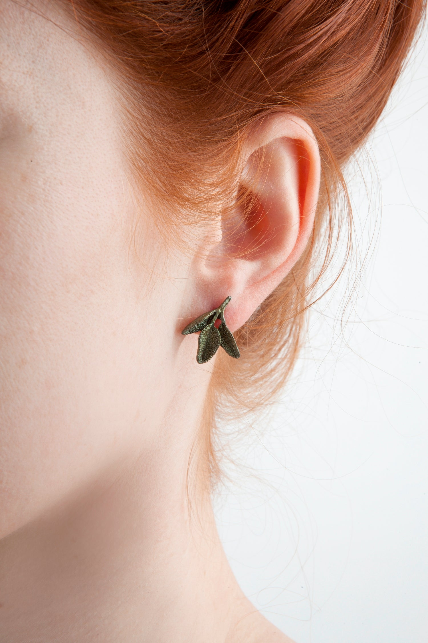 Petite Herb - Sage Post Earring