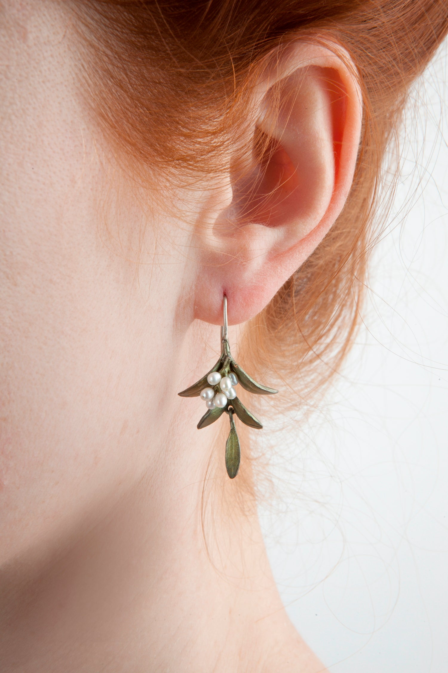 Flowering Myrtle Earrings - Wire Drop
