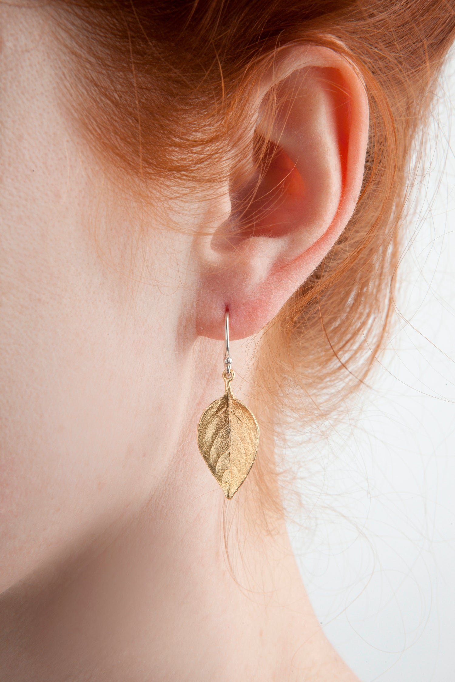 Sweet Basil Earrings - Large Gold Leaf