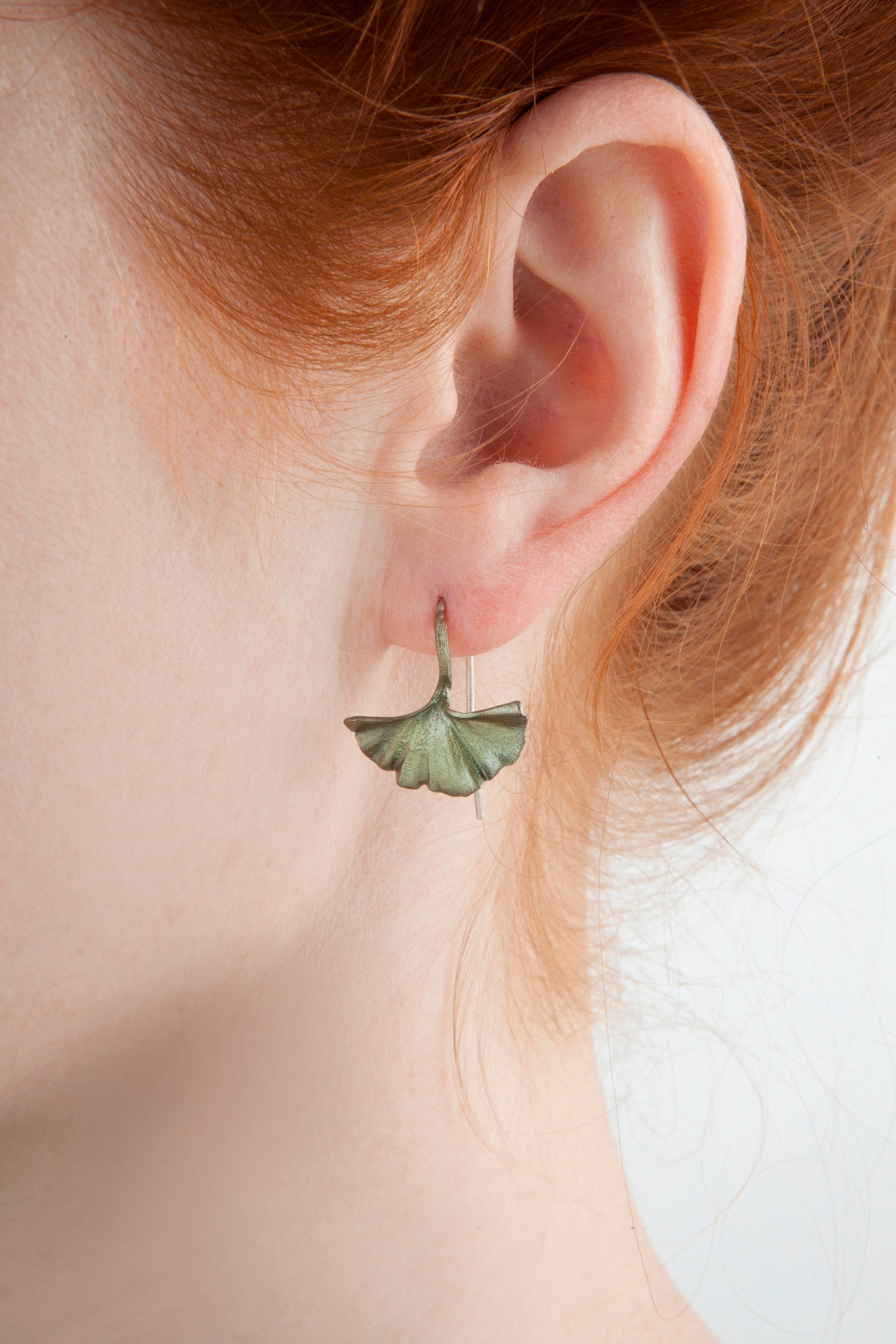 Ginkgo Earrings - Single Leaf