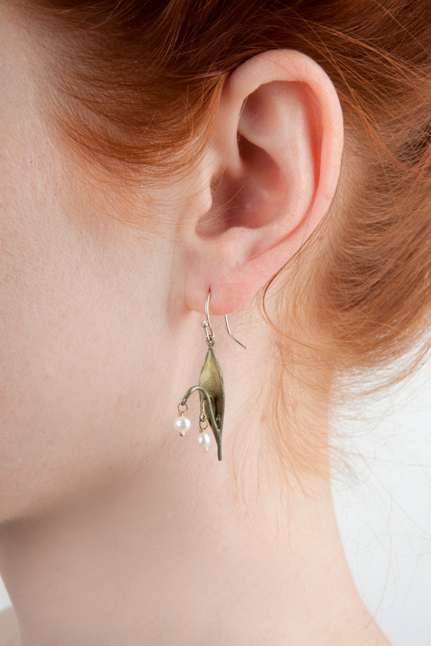 Lily of the Valley Earrings - Leaf Drop