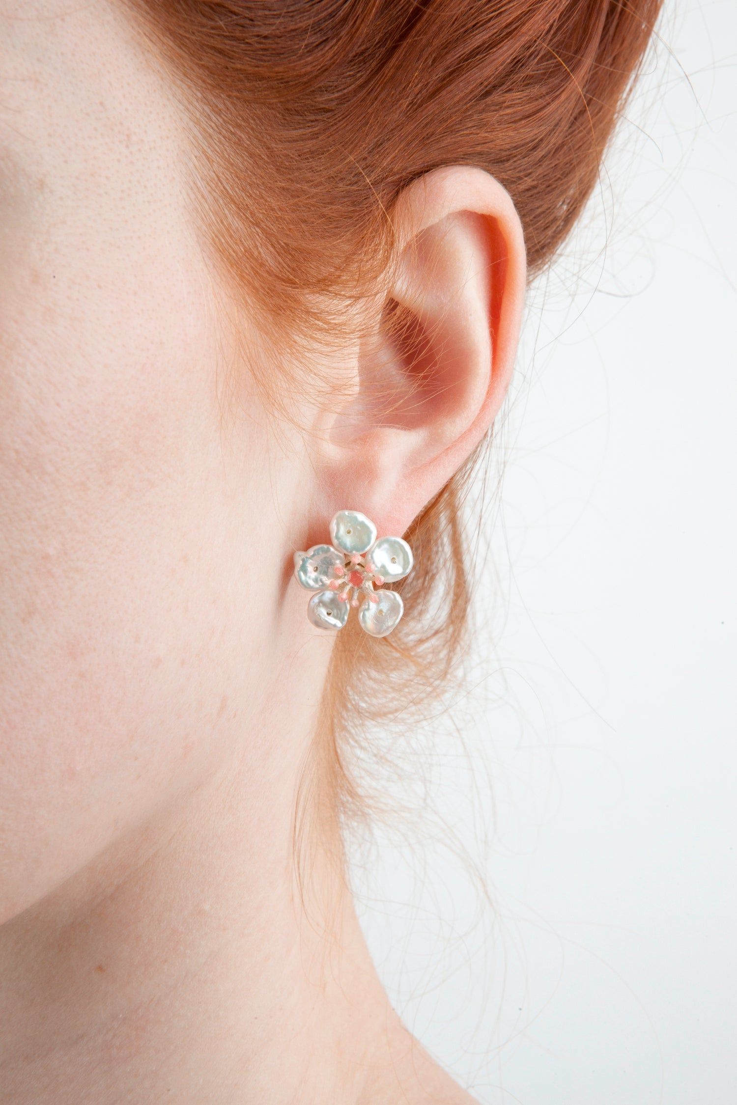 Cherry Blossom Earrings - Flower Post