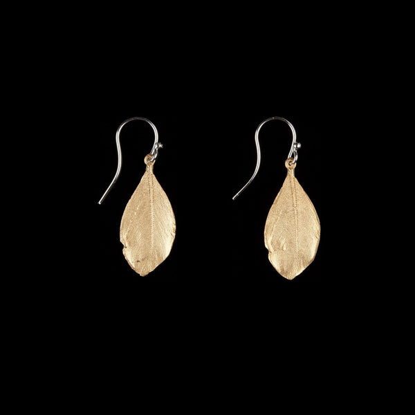 Feather Earring - Wire Gold