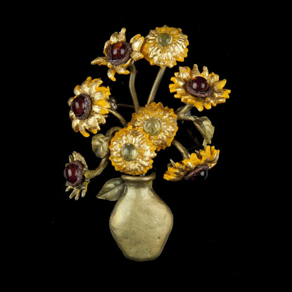 Van Gogh Sunflower Brooch