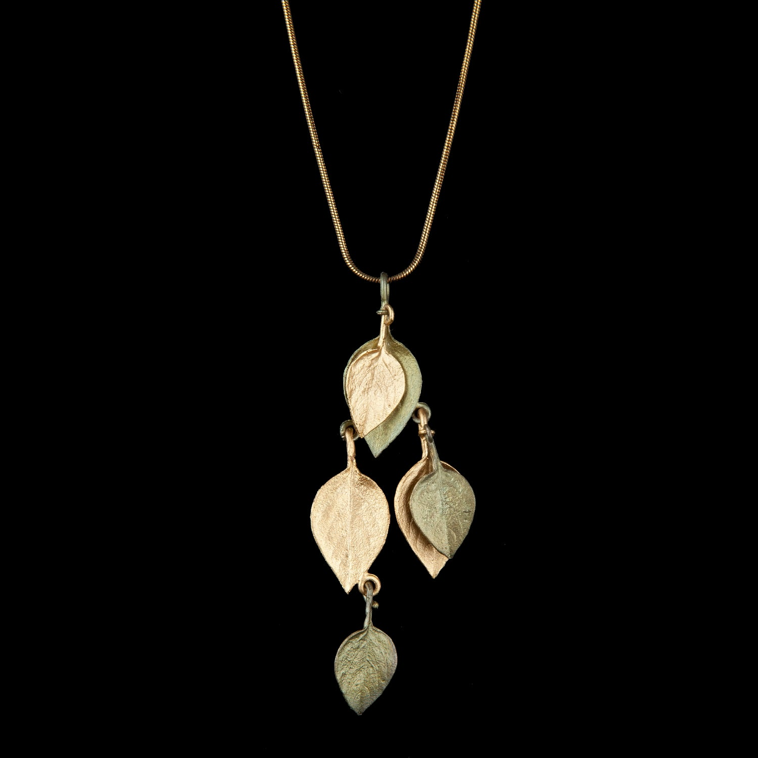 Sweet Basil Pendant - Two Tone Shower Leaves