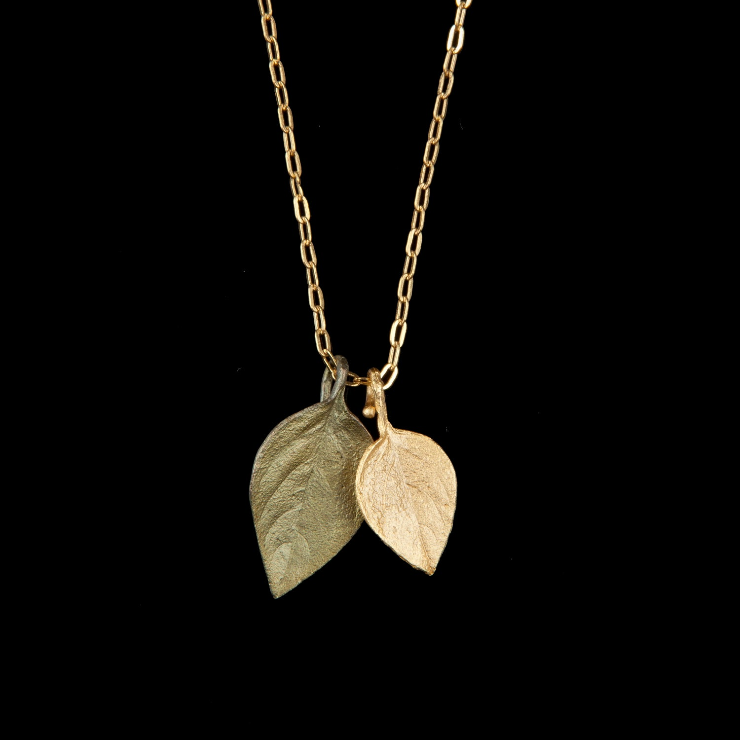 Sweet Basil Pendant - Two Tone Leaves
