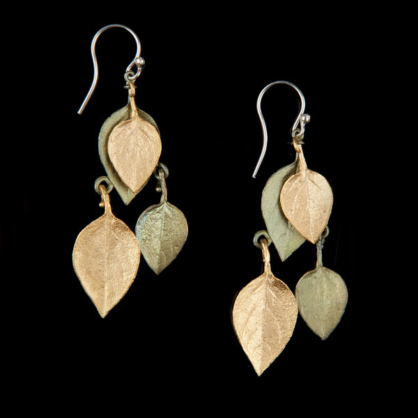 Sweet Basil Earrings - Two Tone Shower Drop