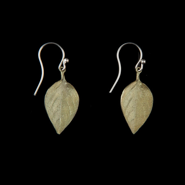 Sweet Basil Earrings - Large Leaf