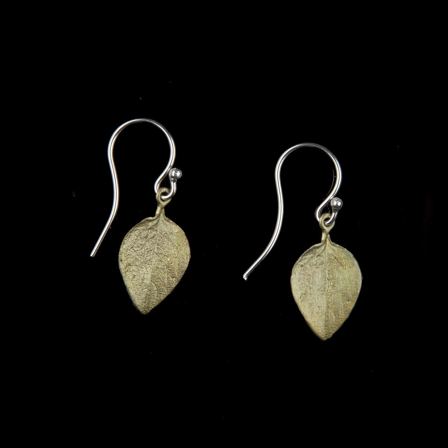 Sweet Basil Earrings - Small Leaf