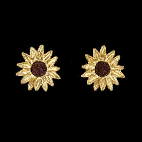 Sunflower Earrings - Petite Post