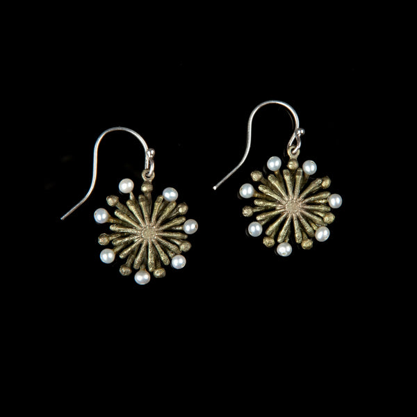 Firewheel Earrings - Petite Wire