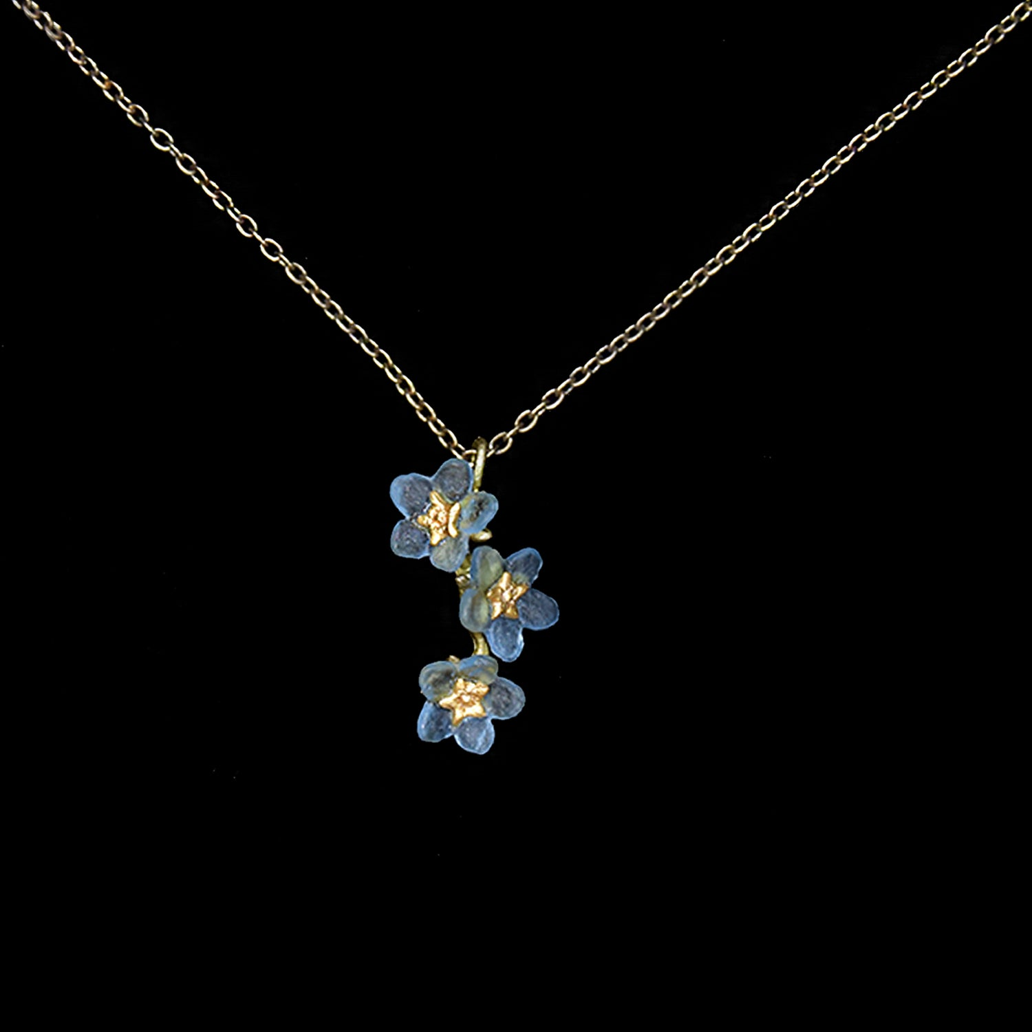 Forget Me Not Pendant - Triple Flower